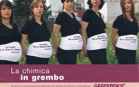 CHIMICA IN GREMBO una ricerca di Greenpeace sui contaminati chimici presenti nelle nostre case